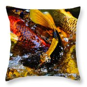 Secrets Of The Wild Koi 2 Throw Pillow