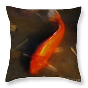 Secrets Of The Wild Koi 5 Throw Pillow