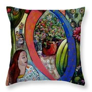 Section From Family And Fiction Throw Pillow