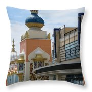 Sectional View Tajmahal Hotel Atalantic Beaches And Board Walk America Photography By Navinjoshi At  Throw Pillow