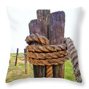 Secured Against The Fog Throw Pillow