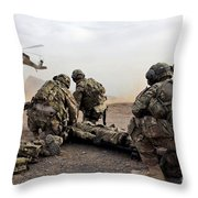 Security Force Team Members Wait Throw Pillow