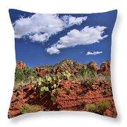 Sedona # 16 - Red Rocks Throw Pillow