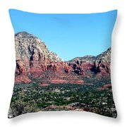 Sedona Arizona City Scape Throw Pillow