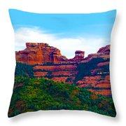 Sedona Arizona Red Rock Throw Pillow by Jill Reger