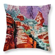 Sedona Arizona Rocky Canyon Throw Pillow