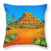 Sedona Bell Rock Throw Pillow