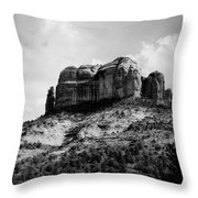 Sedona In Black And White Throw Pillow