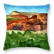Sedona Landscape Throw Pillow