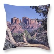 Sedona Red Rocks Framed Throw Pillow