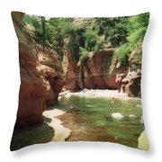 Sedona River Rock Oak Creek Throw Pillow