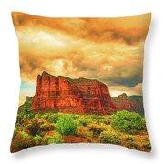 Sedona Storm, Sedona, Arizona Throw Pillow