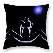 Seduction In The Moonlight Throw Pillow