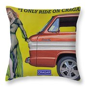 Seductive Sales Pitch Throw Pillow