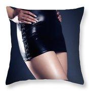 Seductive Woman Throw Pillow