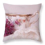 Sedum Flower Still Life Throw Pillow