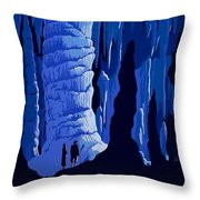 See America, Inside Cave Throw Pillow