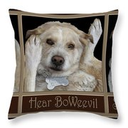 See Boweevil Throw Pillow
