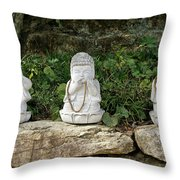 See Hear Speak No Evil Throw Pillow