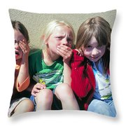 See No Weevils, Eat No Weevils, Don't Speak To Weevils Throw Pillow