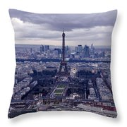 See Paris As Birds Do Throw Pillow