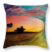 See Thru Wave Throw Pillow