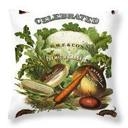 Seed Company Poster, C1800 Throw Pillow