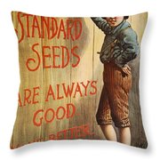 Seed Company Poster, C1890 Throw Pillow