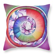 Seed Of Life - Mandala Of Divine Creation Throw Pillow