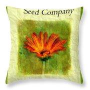 Seed Packet -- Gerbera Daisies Throw Pillow