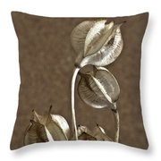 Seed Pods Macro Throw Pillow