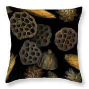 Seeds And Pods Throw Pillow