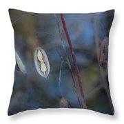 Seeds In A Pod Dark Throw Pillow