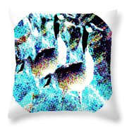 Double Geese In Waterfall Throw Pillow