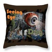 Seeing Eye Dog Throw Pillow