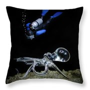 Seeing Eye To Eye Throw Pillow