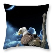 Seeing Eye To Eye Under The Moonlight Throw Pillow
