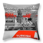Seeing Red Series #3 Throw Pillow