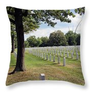 Seeing The Air Force Memorial From Arlington National Cemetery Throw Pillow