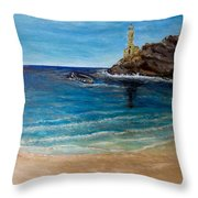 Seek A Source Of Light Built On A Firm Foundation To Guide You Safely To Shore Throw Pillow