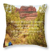 Seek First God's Kingdom Throw Pillow