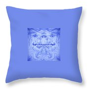 Seer-synthesis Self Portrait Throw Pillow