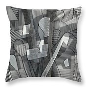 Segmented Line Series #11 Throw Pillow