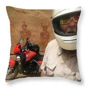 Sego Canyon Self Portrait Throw Pillow