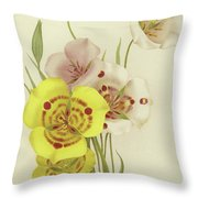 Sego Lily   Calochortus Throw Pillow