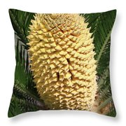 Sago Palm Flower Throw Pillow