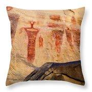 Sego Petroglyphs Utah 3 Throw Pillow