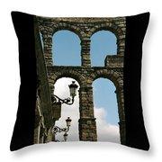 Segovia Aqueduct Throw Pillow