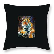 Seibirian Tiger  Throw Pillow