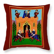 Seige Of The Castle Of Love Throw Pillow